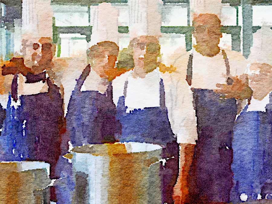 Il personale di cucina