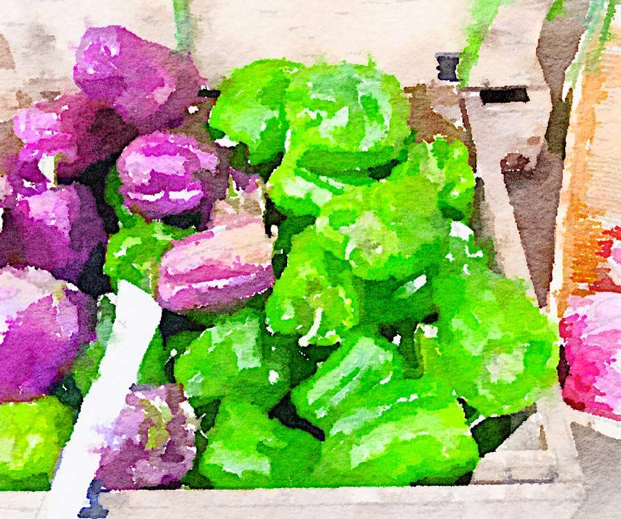Dadolata di verdure con ricotta alle erbe