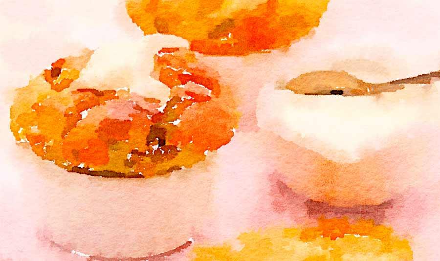 Flan di parmigiano e carciofi