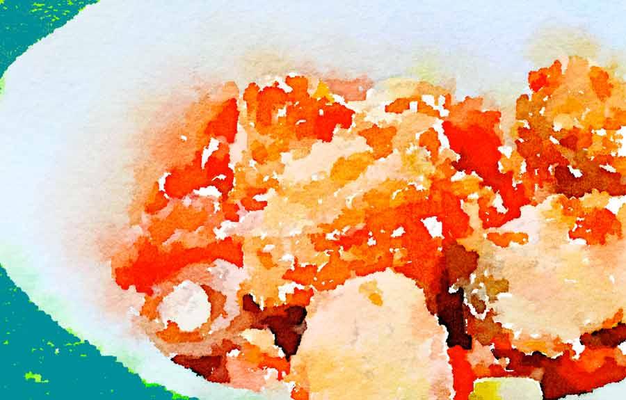 Dadolata di salmone al sesamo