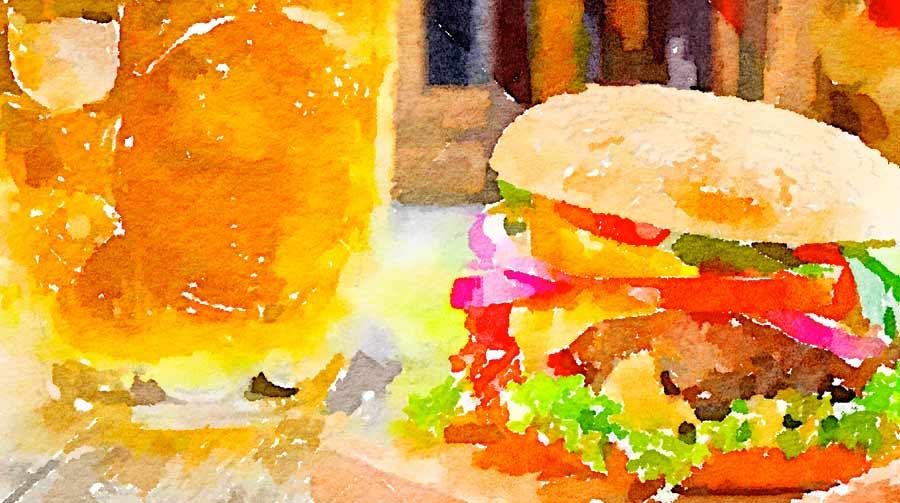 Hamburger e birra?