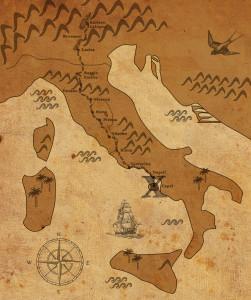 mappa del viaggio per far conoscere il vitigno schiava