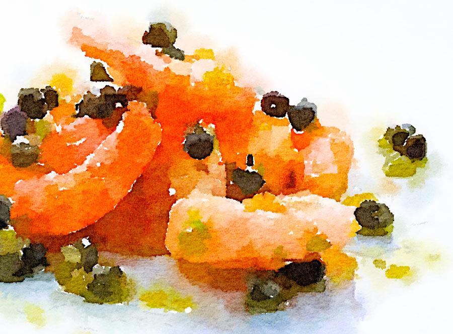 Gamberoni con salsa di capperi