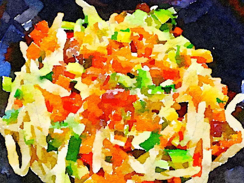 Strozzapreti con ratatouille di verdure