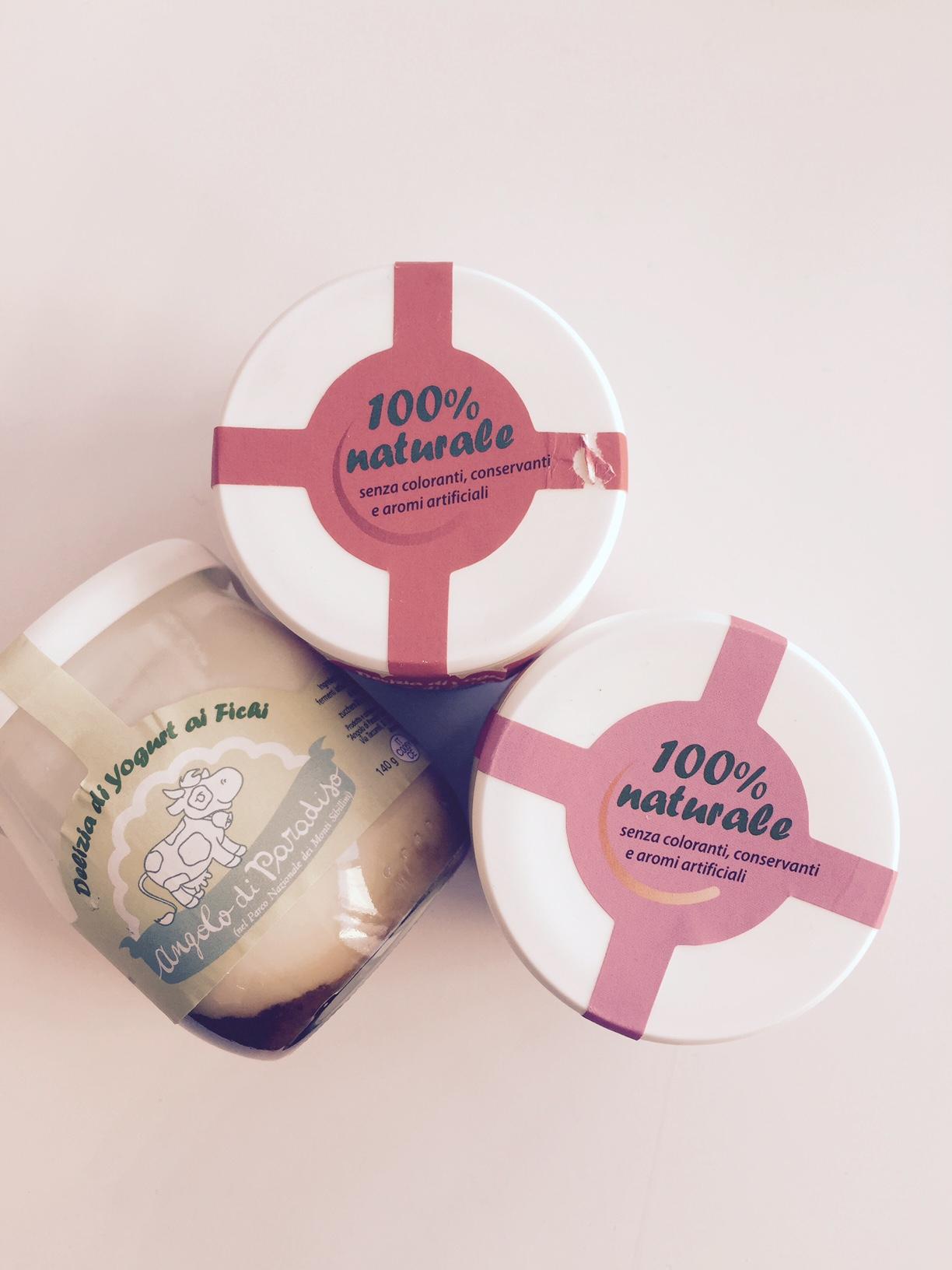 Gli yogurt della Fattoria  Angolo di Paradiso
