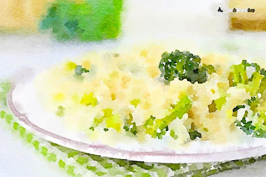 Risotto ai broccoletti e erbette