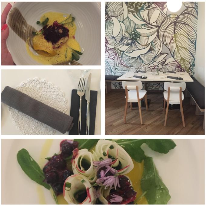 Piatti e interni del ristorante Flora