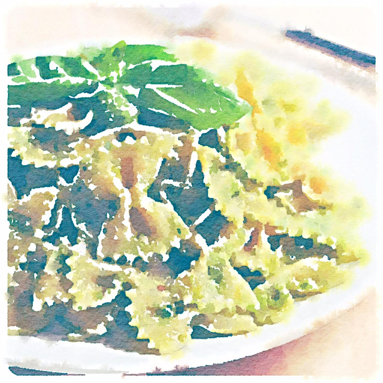 Farfalle al pesto di zucchine