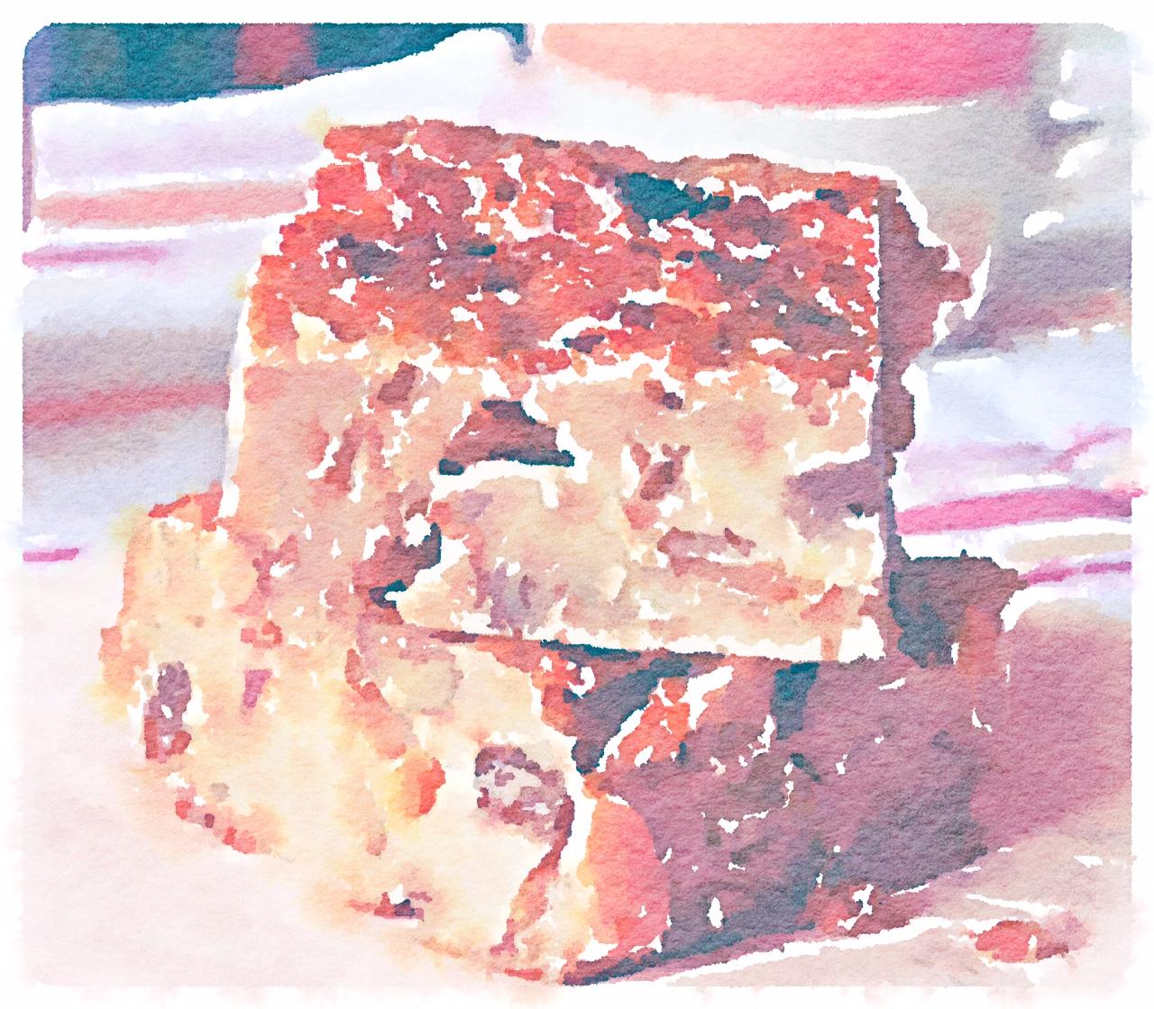 Torta rustica con pane raffermo e cannella