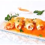 Involtini di sogliola e salsa di carote