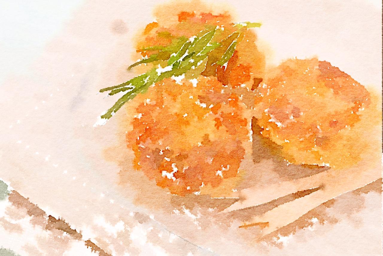 Frittelle di zucchine con Praga