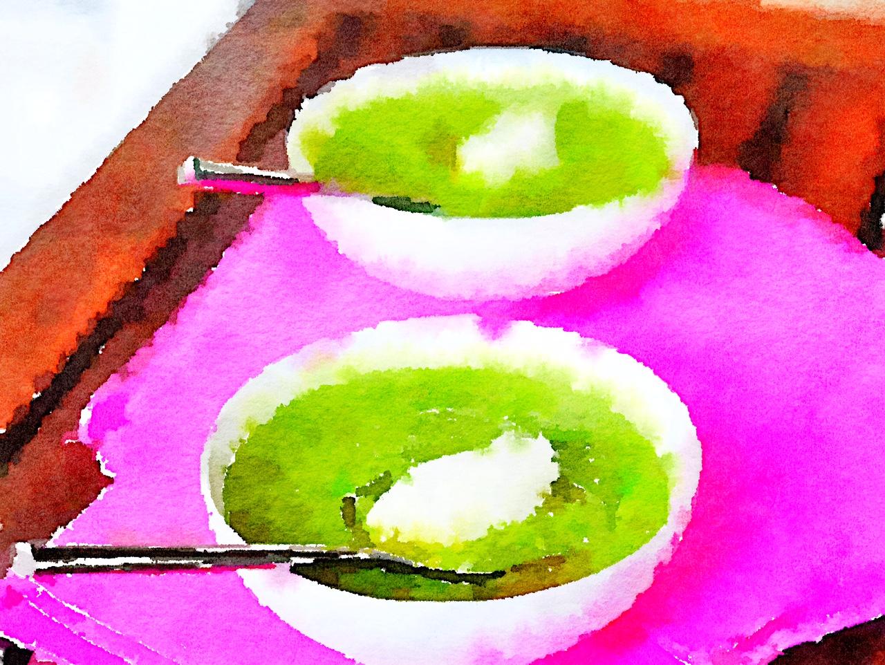 Crema di broccoli e zucca con burrata