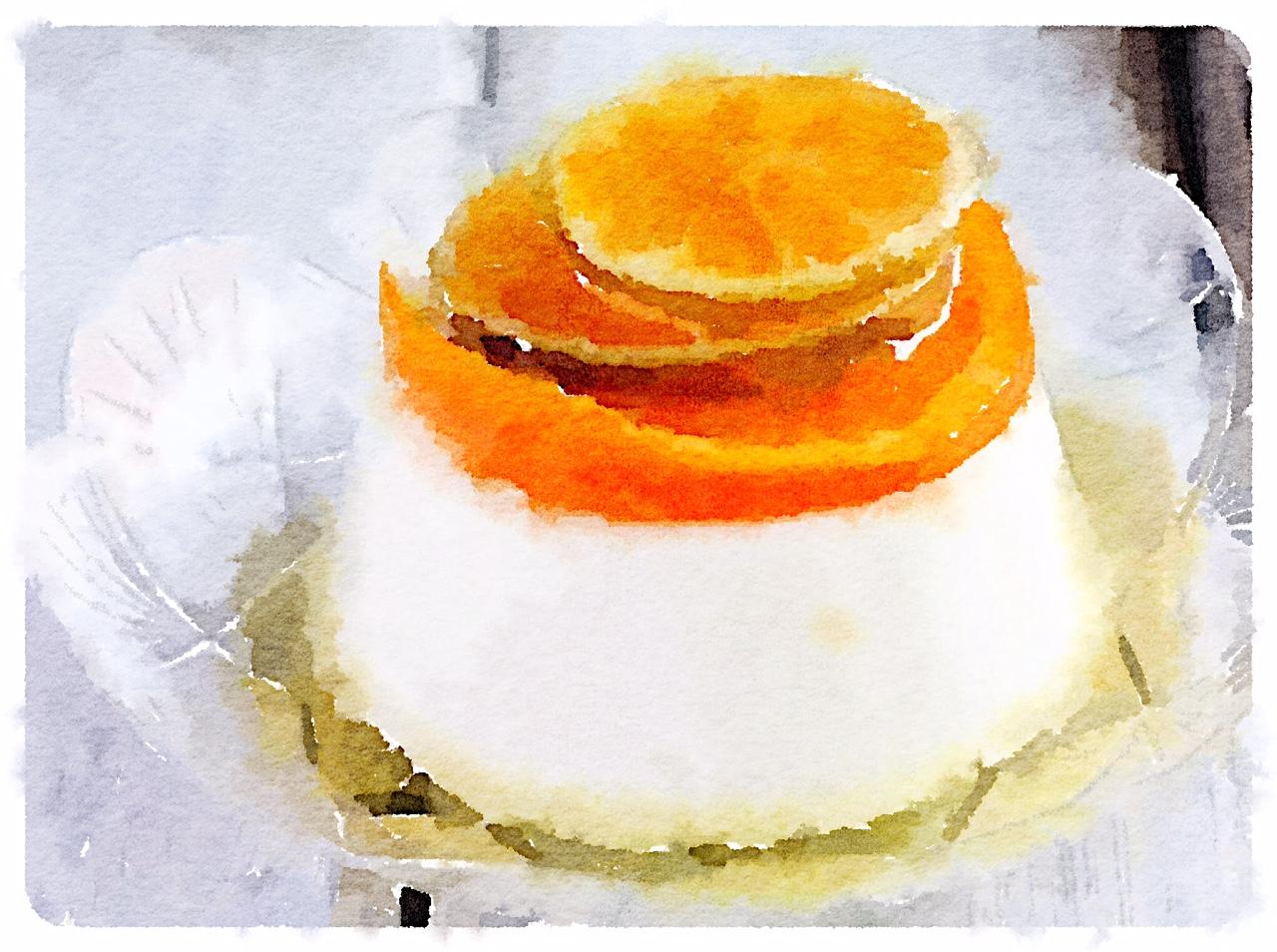 Latteinpiedi al tè con salsa al limone e arancia