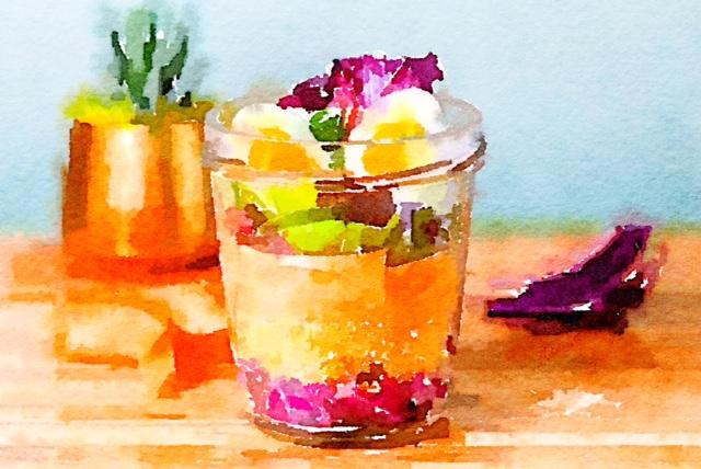 Il piatto nel bicchiere