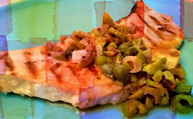Bistecca di pesce spada alle olive