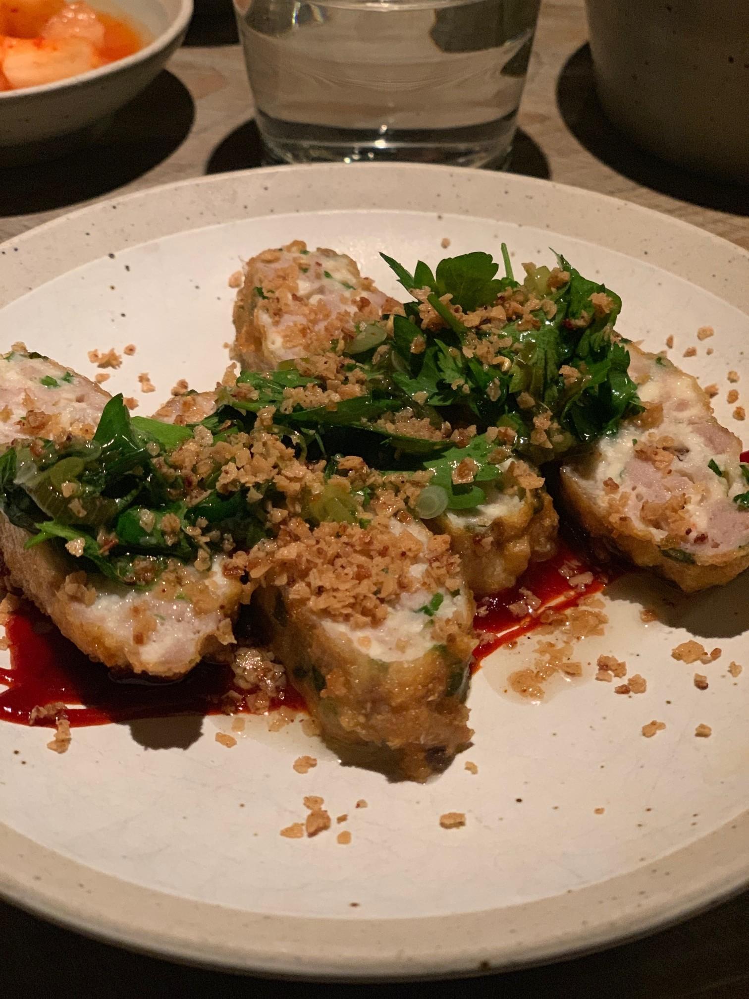Un piatto di Atoboy, ristorante coreano